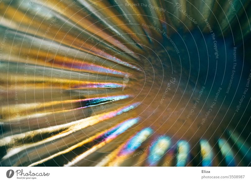 Glass shimmering in rainbow colours Prismatic colors Spectral Refraction rays Radial background Prismatic colour Rainbow already Abstract