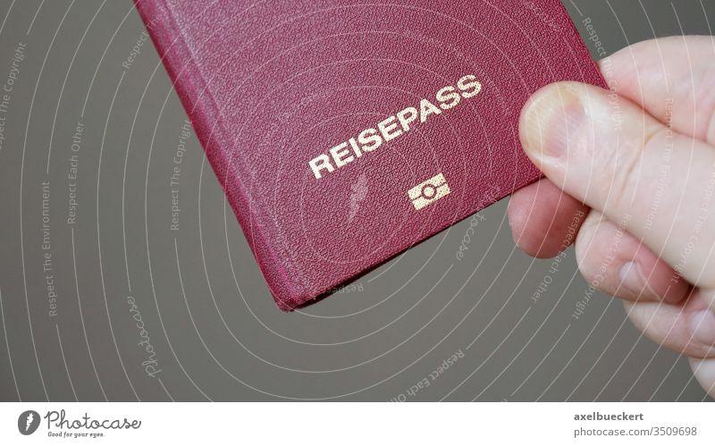 Reisepass is German for passport reisepass german germany biometric travel vacation tourism e-passport epassport digital tourist immigration journey holiday