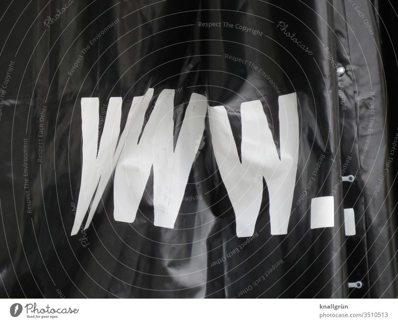 www. world wide web Global Internet Multimedia Capital letter abbreviation tarpaulin Advertising Lettering Screen print Letters (alphabet) Typography Characters