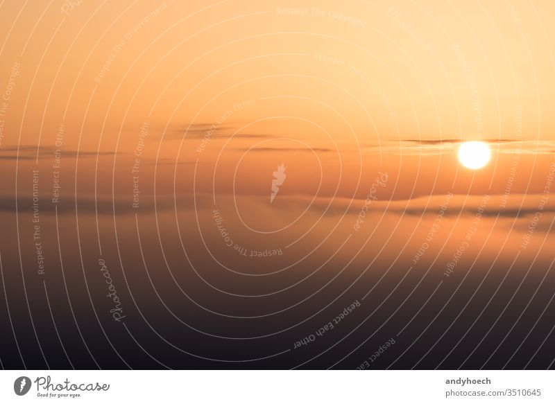 The sun is just above the clouds Background backgrounds beautiful beauty beauty in nature bright circle color copy space dawn dramatic light dramatic sky dusk