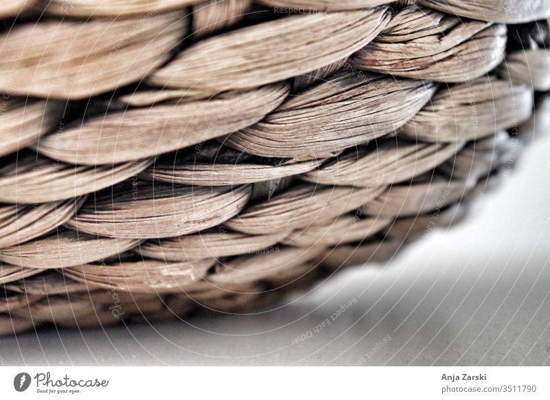 Close-up of a wicker basket Basket Plaited Decoration Brown
