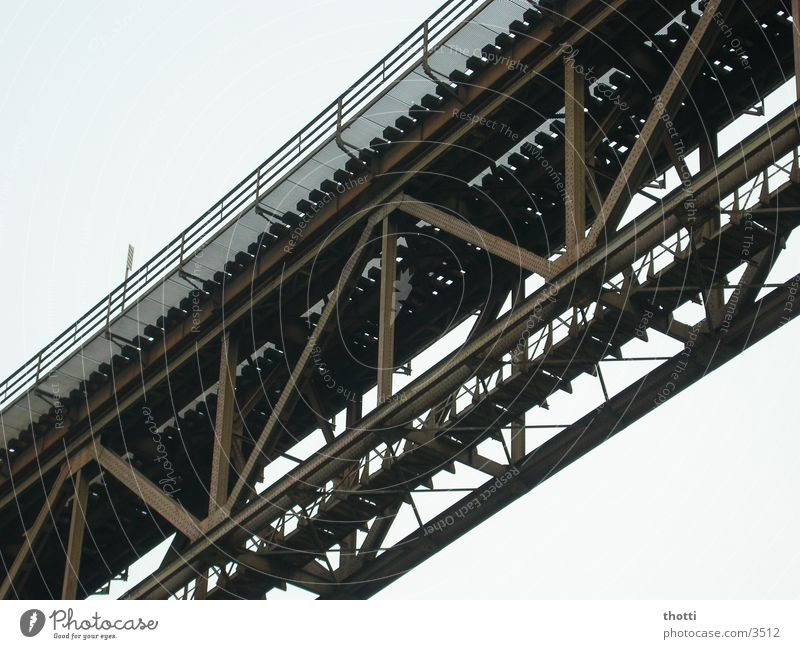 under the bridge Steel Carrier Iron Bridge Rust viaduct Railroad Connection