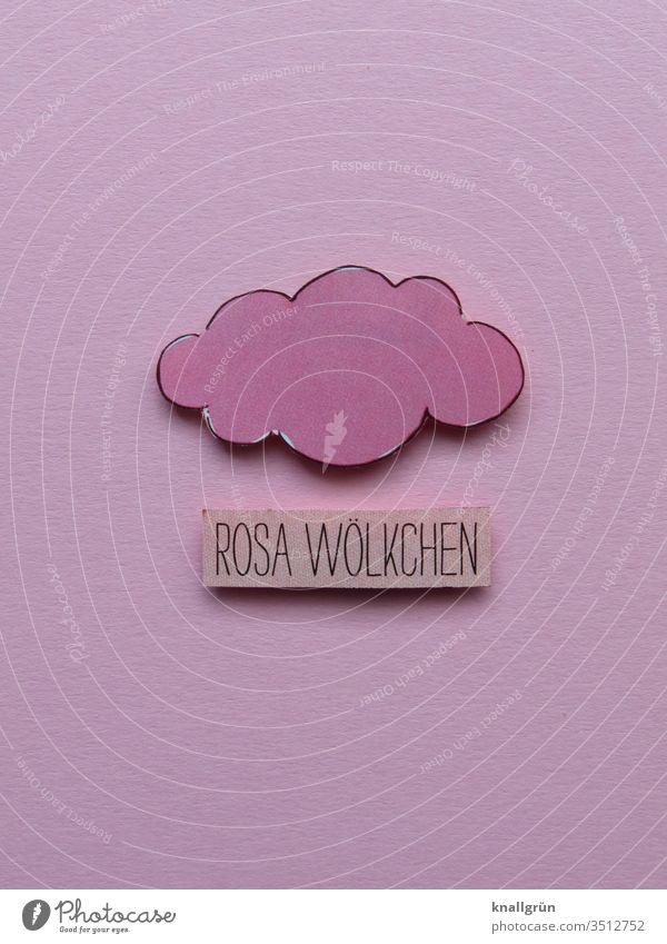 pink cloud Clouds Pink Romance Creativity little cloud Home-made Colour photo Love Emotions Infatuation luck Letters (alphabet) Word leap Characters Typography