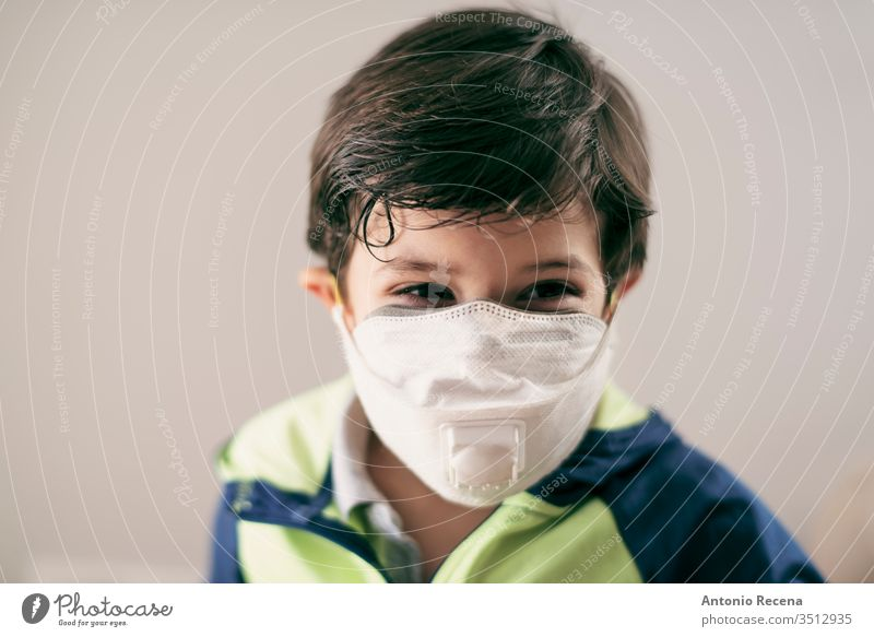 four years old boy with facial mask portrait child allergy pullution corona virus covid 19 protection security handsome 4s 5s 3s chldren chldhood lifestyles