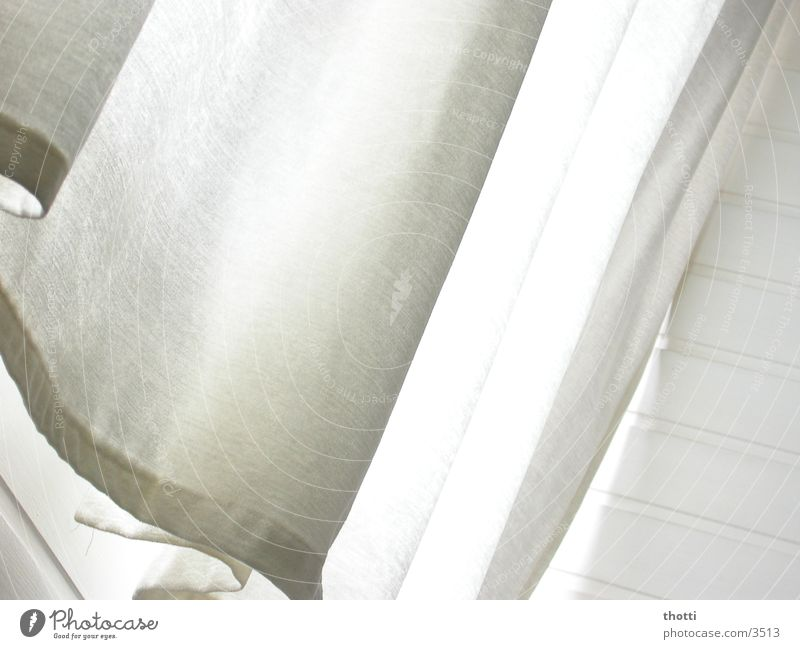 White Waves Decoration Living or residing Cloth Drape Photographic technology
