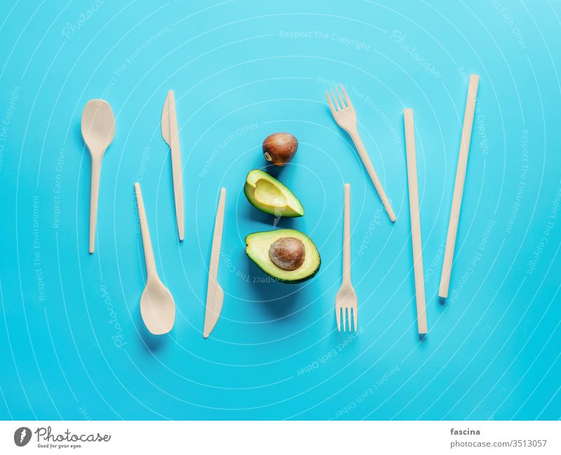 Avocado Seeds Biodegradable Single-Use Cutlery bioplastic avocado seed cutlery single-use zero waste disposable recycle renewable eco friendly set durable