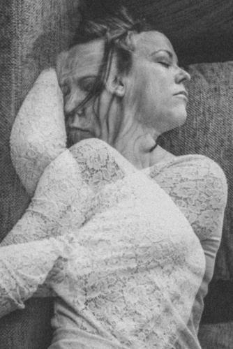 dreams Sleep Dream Woman nightmare Face Black & white photo Interior shot Closed eyes Insomnia Agitated Sofa
