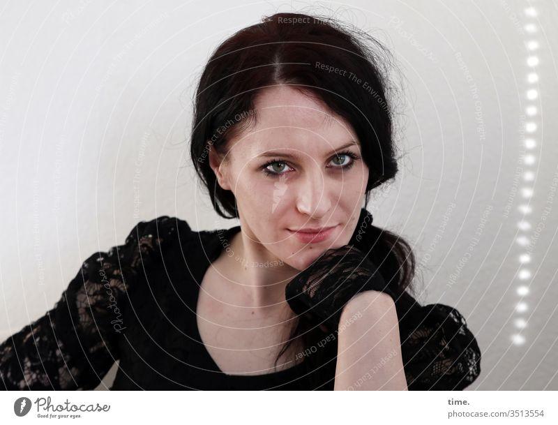 annika Dancer artist actress Forward portrait Interior shot Inspiration Life Watchfulness Self-confident Observe Feminine Wait braid Skeptical Dark-haired