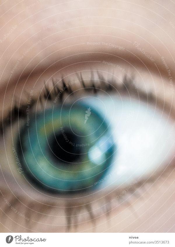 unsharp detail of an eye Eyes Eyelash Blue Green Looking Looking into the camera Detail 1 Pupil Face Human being Close-up Colour photo Day Skin Iris