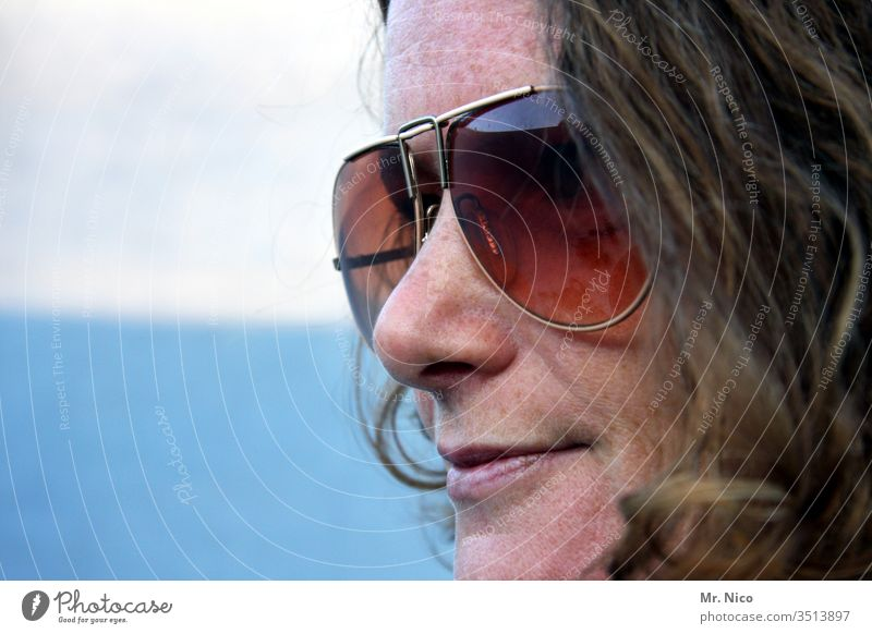Favourite person I with sunglasses portrait Woman Face Hair and hairstyles already Looking Head Facial expression Nose Mouth Lips Sunglasses Freckles natural