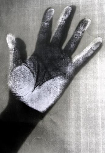 Copy Hand Black & white photo Fingers five Skin