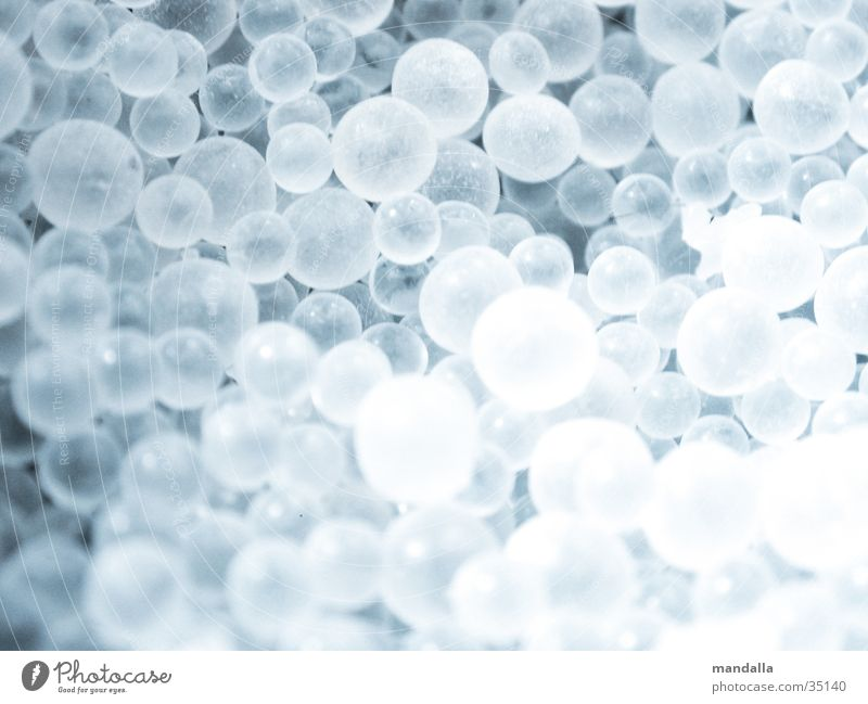 White Small Ball Multiple Round Things Sphere Deep Many Transparent Equal Dull
