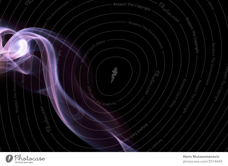 Abstract overlay pink  smoke in shape of lightning on black background abstract air art backdrop blue color concept cover curve dark design dynamic effect fire
