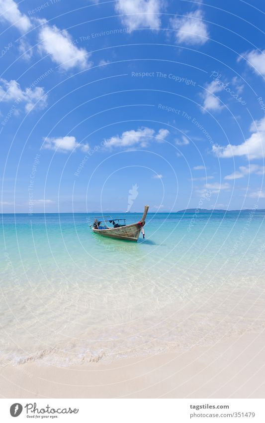 Nature Vacation & Travel Ocean Landscape Relaxation Calm Beach Travel photography Sand Watercraft Idyll Card Asia Paradise Heavenly Paradisical