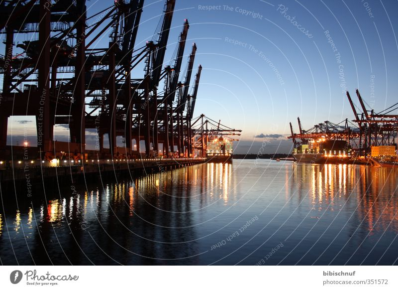 Water Horizon River bank Navigation Traffic infrastructure City trip Container ship