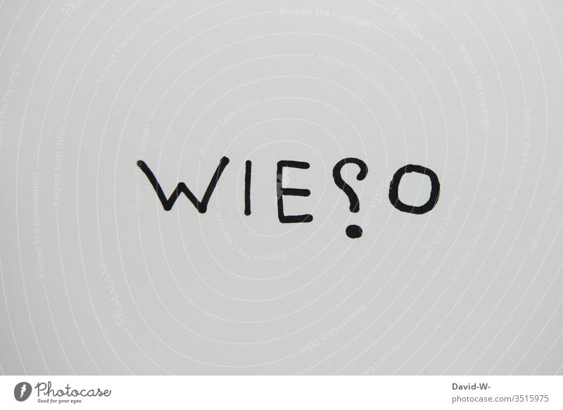 why? Word creatively Creativity visualization Wordplay word picture Question mark asking Answer flaked Paper Ask Art Characters Neutral Background Deserted