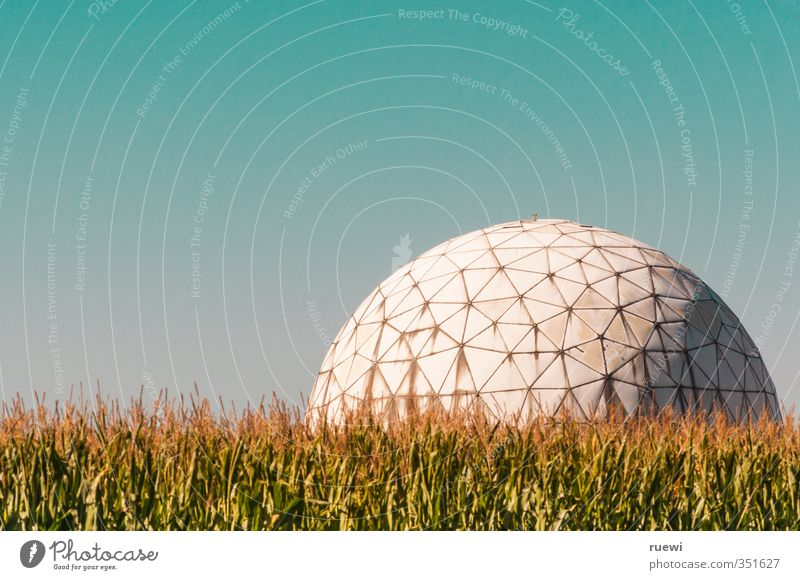 Plant Landscape Sports Architecture Building Field Beautiful weather Soccer Aviation Future Telecommunications Technology Round Ball Physics Science & Research