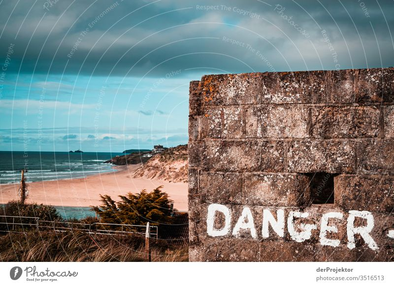 Danger in Tintagel Central perspective Deep depth of field Sunlight Contrast Shadow Light Day Deserted Copy Space left Copy Space top Exterior shot Colour photo