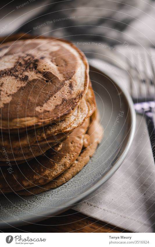 Stack of pancakes with topping Pancake Pancake stack Food Food Photography peanut butter Nutrition Fresh Breakfast fruit Healthy Dessert Snack Berries