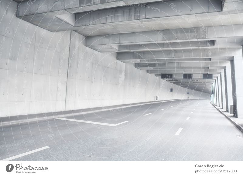 Tunnel architecture asphalt bridge building city contemporary curve dark day direction down dusk empty equipment forward freeway futuristic highway indoors