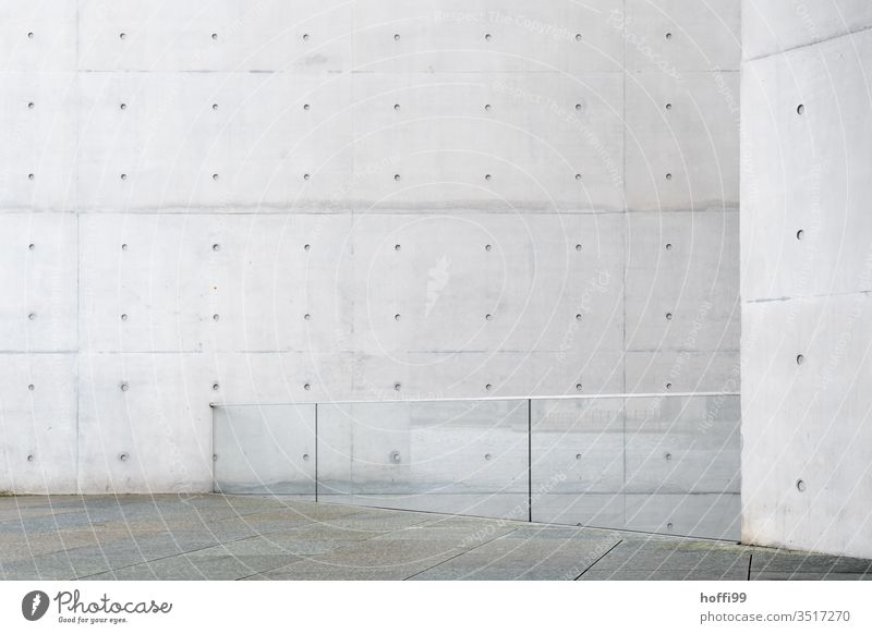 Exposed concrete with glass wall exposed concrete exposed concrete wall minimalism Architecture House (Residential Structure) Wall (building) Town Dry