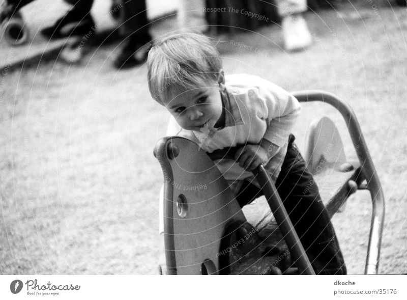 Man Boy (child) Playing Horse Toddler Playground