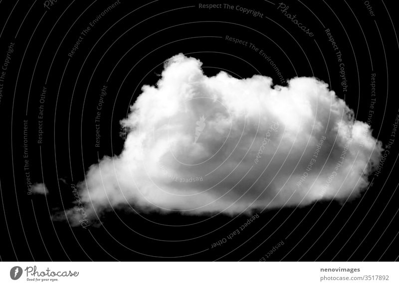 Set of isolated white clouds against black background cloudscape sunlight environment climate clear nature stratosphere fluffy cutout cumulus summer ozone air