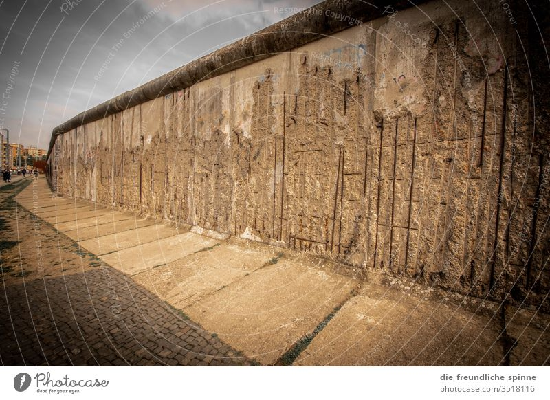 berlin wall Wall (barrier) Wire cordon Fence Safety Barrier Wall (building) Ministry for Internal Security Captured Deserted Fear Sky Exterior shot Threat