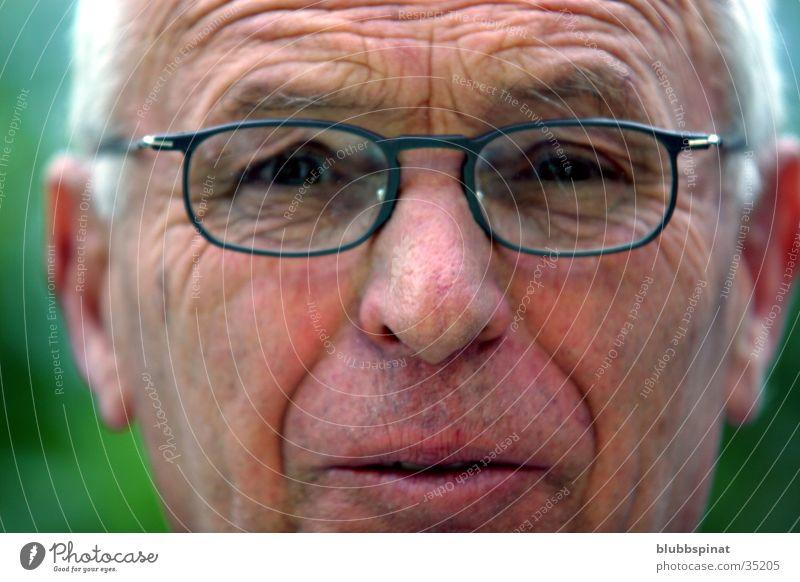 grandpa Grandfather Man Eyeglasses Gray Close-up Exterior shot