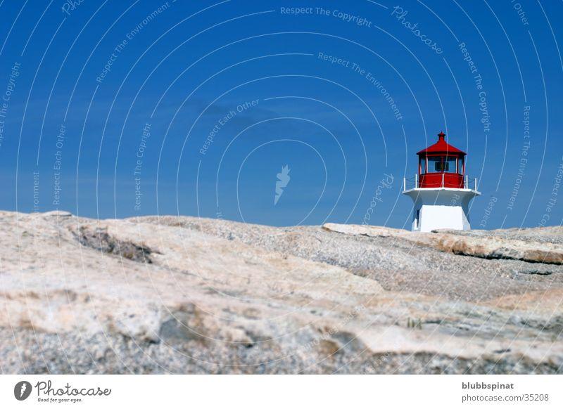 Peggy's Cove Lighthouse 2 Ocean East coast Architecture nova Scotia Rock Sun Sky