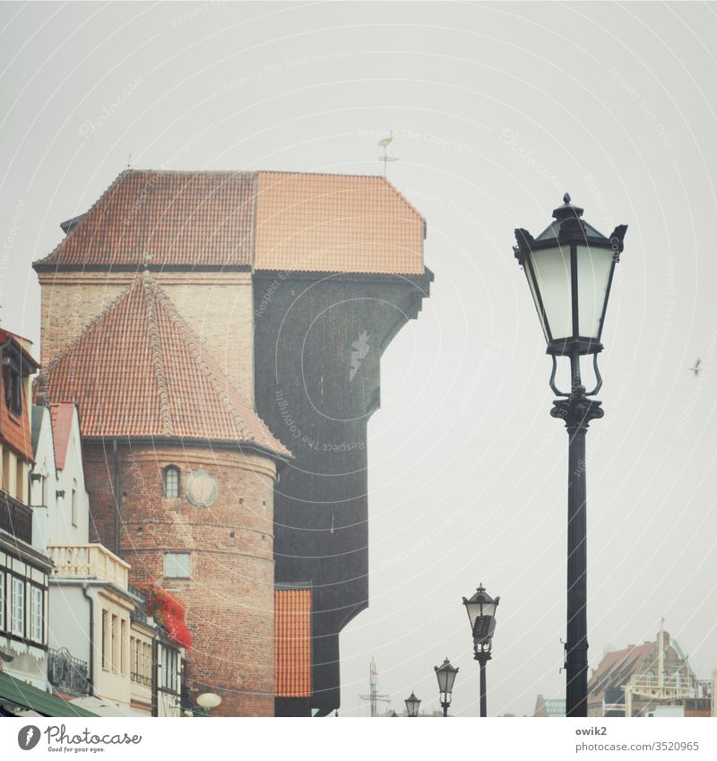 Gdansk, Krantor Tourist Attraction Landmark Gdánsk Dignified Crane Gate Old Historic Historic Buildings historical building great Tall Firm stable wood Brick
