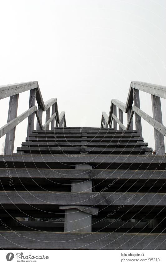 Stairway to heaven Wood Bridge Stairs mount Washington DC Sky Handrail
