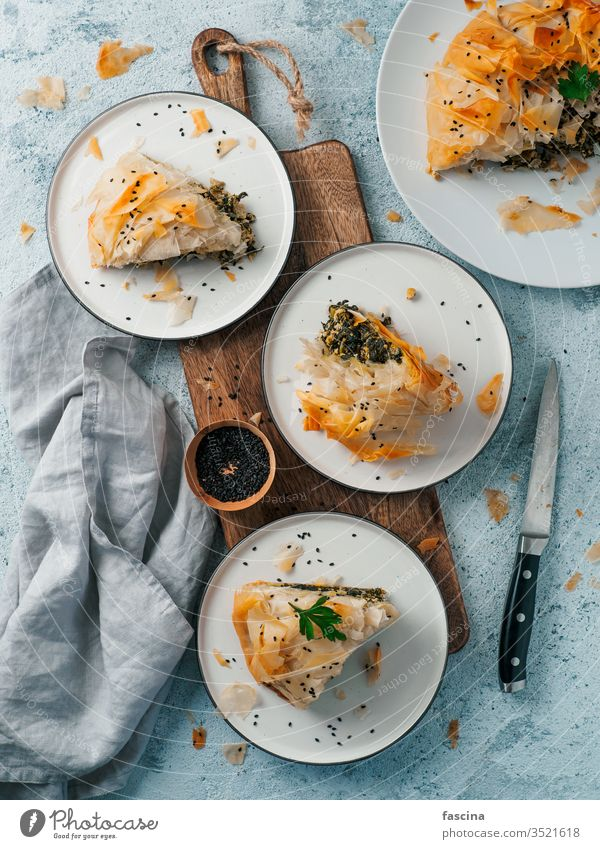 Vegan Spanakopita Spinach Pie spanakopita pie feta greek spinach filo phyllo tofu vegan pastry recipe cheese spanikopita above traditional cooking greece