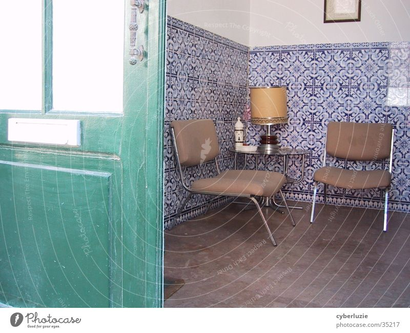 what green doors hide... Portugal Lawyer Waiting room Chair Lounges Europe Door