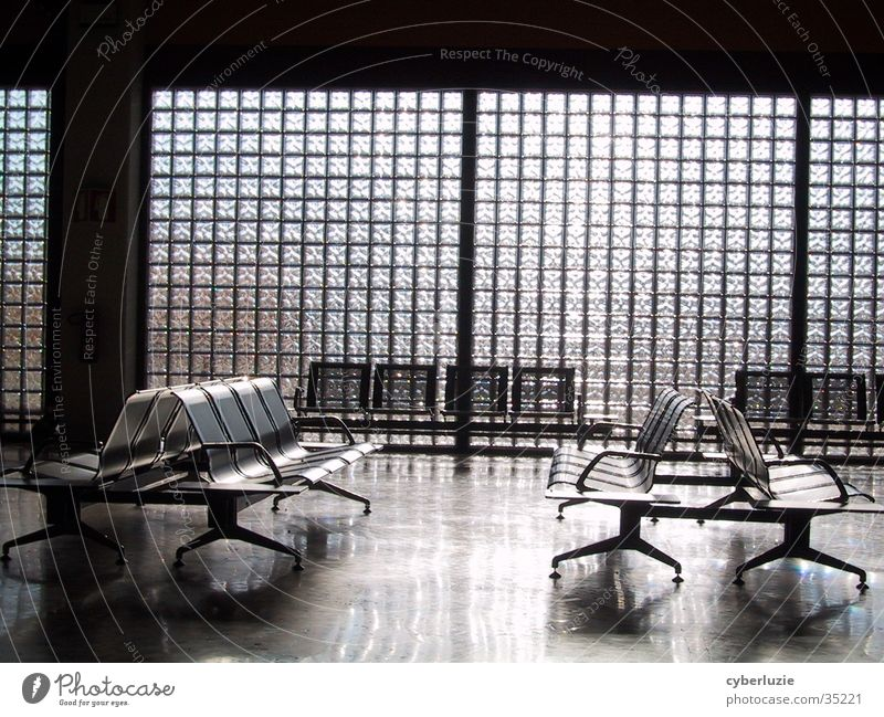 Faro Airport Chair Portugal Architecture Departure lounge Glass Sun