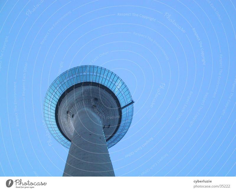 Architecture Duesseldorf Television tower Rhine Rheinpromenade