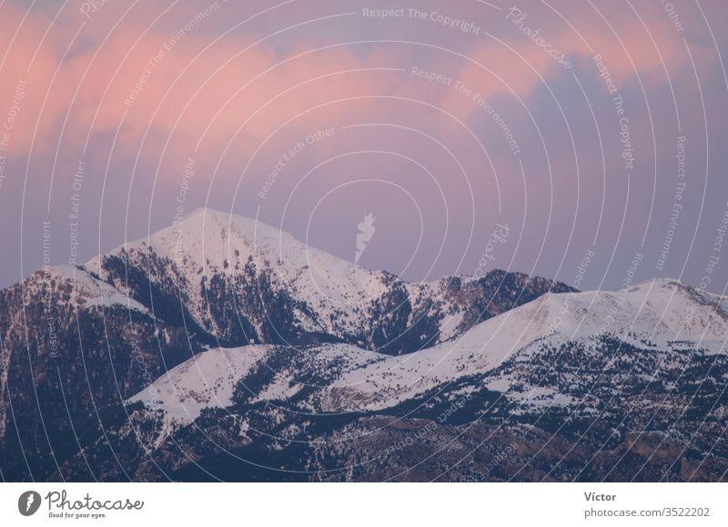 Mountains at sunset. Ordesa y Monte Perdido National Park. Pyrenees. Huesca. Aragon. Spain. aragon cliff cliffs color colors colour colours crag crags high