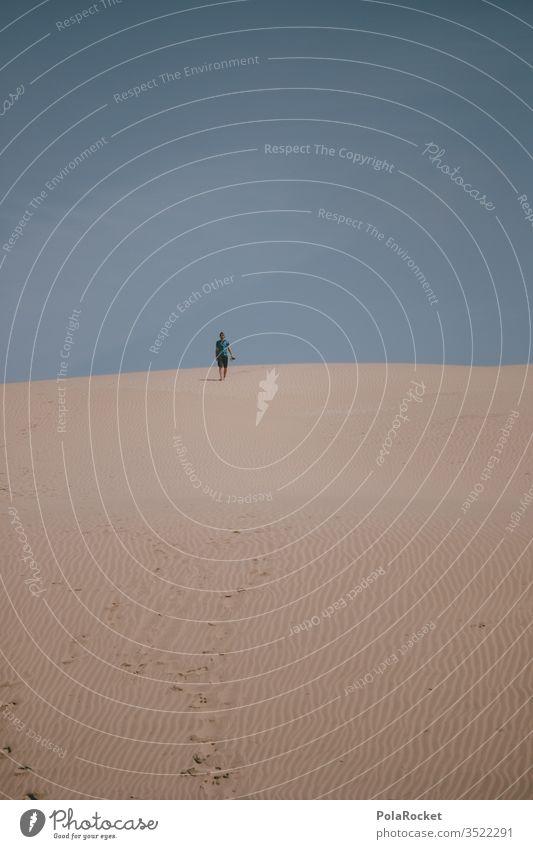 #As# Dude running Sand Sandy beach grain of sand Sandbank Walking Hiking hike Desert desert landscape desert sand Exterior shot Colour photo Beach Nature