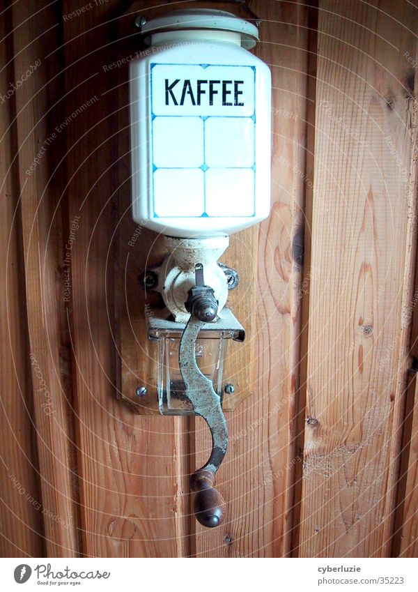 The good old days Coffee grinder Wood Crockery