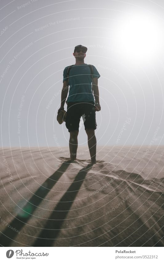 #AS# Lost in the Thin Sand Sandy beach Desert desert landscape Colour photo Exterior shot desert sand Vacation & Travel Landscape Nature Sandpit Summer vacation