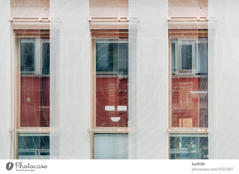 The house of smiles - keep smiling Facade smiling facade reflection Glas facade Joy Exceptional Reflection Glass built Window Modern High-rise