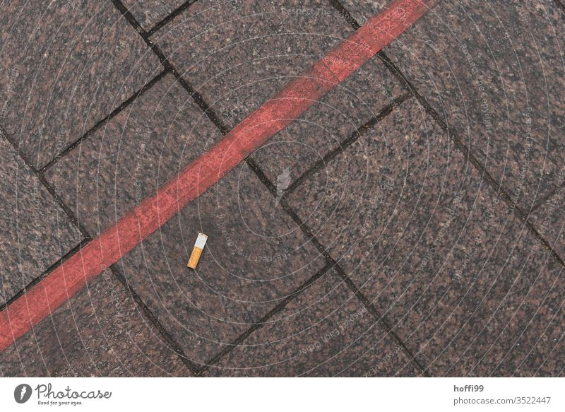 red line with flip without lip Line Border Red tilt express Cigarette Butt line course Paving stone Cobbled pathway bricks walkway slab waste Carefreeness