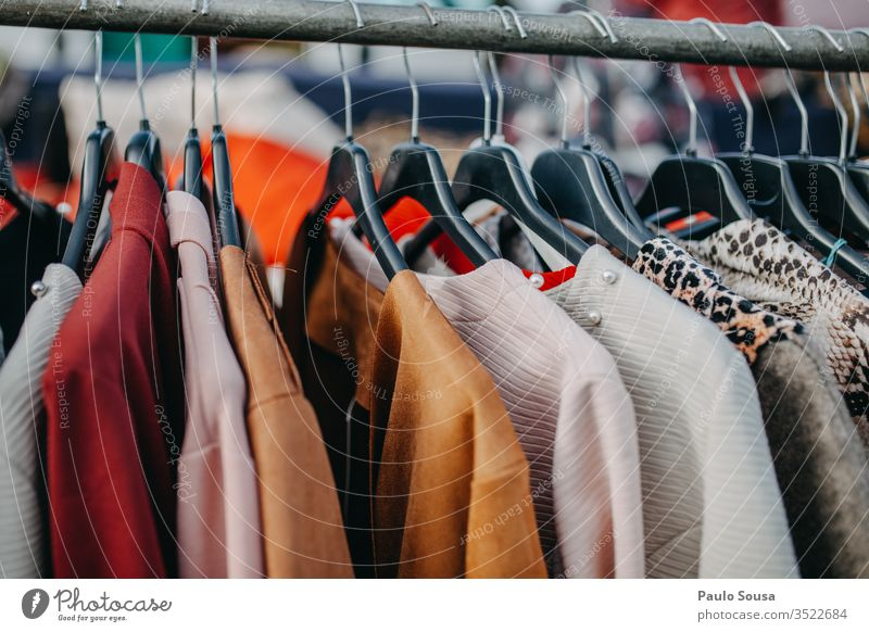 Colorful Clothes Hanging For Sale for sale Markets Marketplace market Clothing Clothesline clothes Shopping Storage Multicoloured Design Horizontal Sell