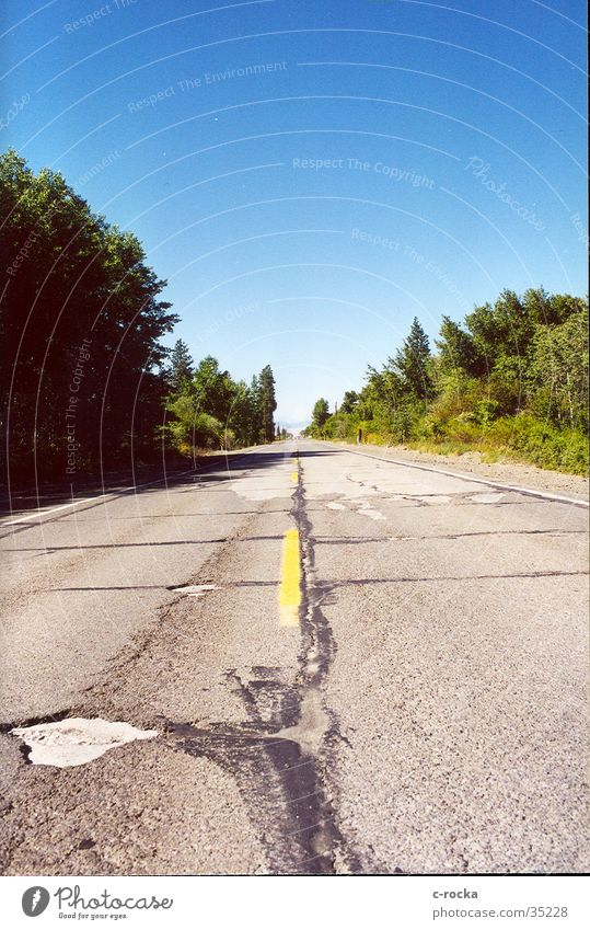 Sky Far-off places Street Transport Asphalt Infinity Americas Hollow