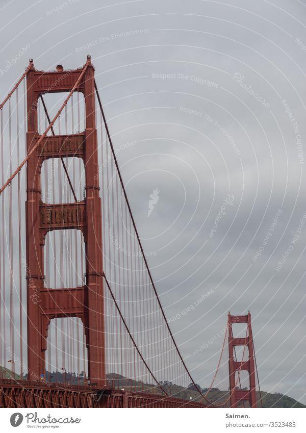 Golden Gate Bridge Brücke Wahrzeichen Symbol Brücken San Francisco san francisco bay area Stahl Brückenkonstruktion California USA Amerika Architecture Ocean