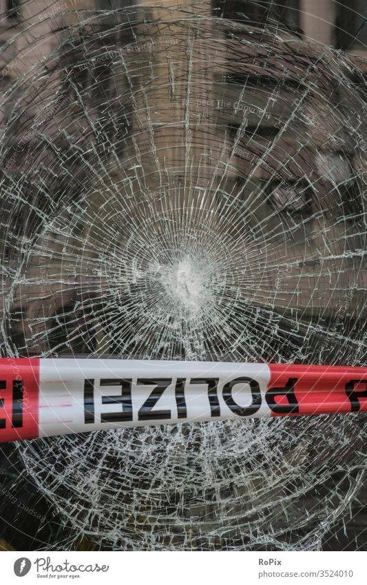 Crime Scene Slice shattered Safety glass Ruin lost places Factory Vandalism forsake sb./sth. Graffiti sharp peril Old Shabby built Manmade structures