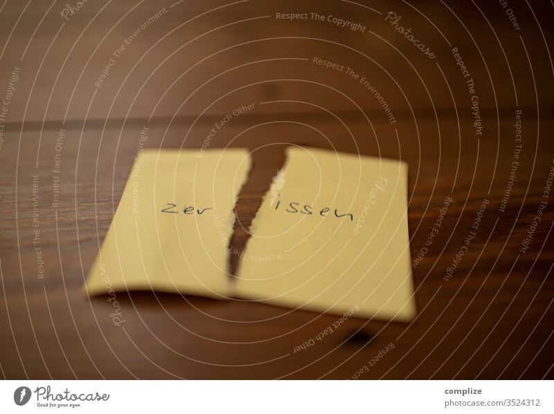 I am - torn property Character inner turmoil flaked Paper Emotions positive post it Crack & Rip & Tear me I am small