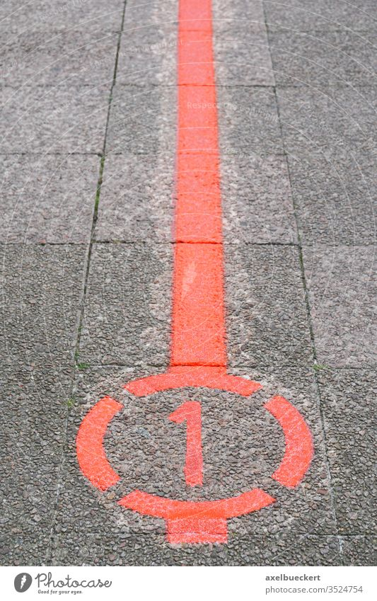 the Roter Faden which translates as red thread in Hannover Germany hannover hanover line germany mark road marking street pavement sidewalk sightseeing tour