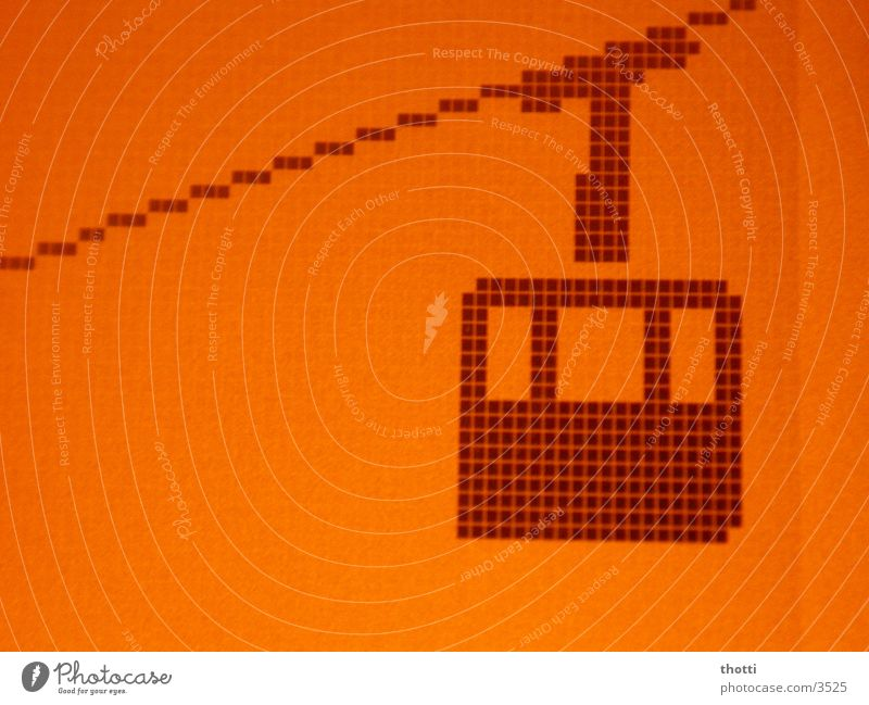 Mountain Orange Cellphone Screen Symbols and metaphors Display Logo Icon Cable car