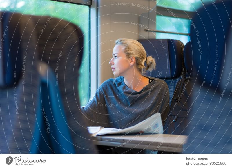 Lady traveling by train. railway traveler public transport woman passenger connection railroad female girl journey lifestyle metro person ride time track
